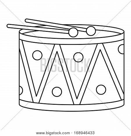 Drum toy icon. Outline illustration of drum toy vector icon for web