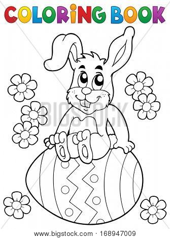 Coloring book Easter rabbit theme 5 - eps10 vector illustration.