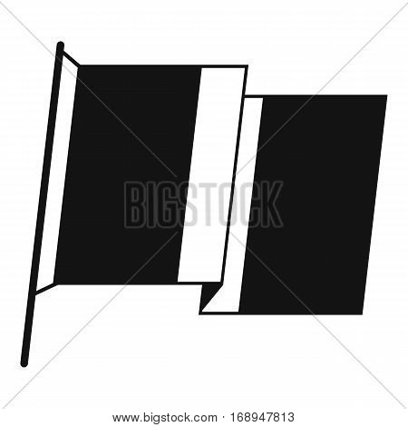 Flag of Ireland icon. Simple illustration of flag of Ireland vector icon for web