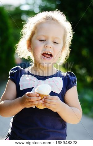Child With An Ice Cream