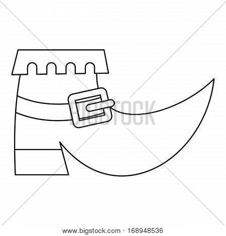 Leprechaun boot icon. Outline illustration of leprechaun boot vector icon for web