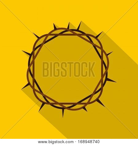 Crown of thorns icon. Flat illustration of crown of thorns vector icon for web