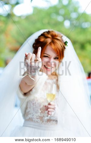 Bride Showing Wedding Ring