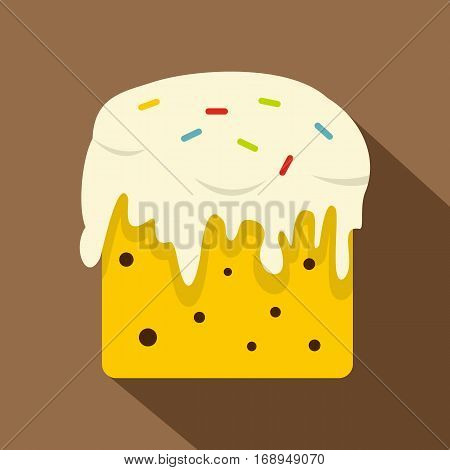 Easter cake icon. Flat illustration of easter cake vector icon for web