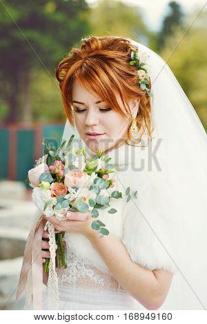 Redhead Pretty Bride