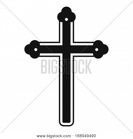 Holy cross icon. Simple illustration of holy cross vector icon for web