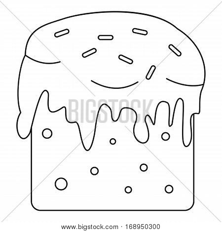 Easter cake icon. Outline illustration of easter cake vector icon for web