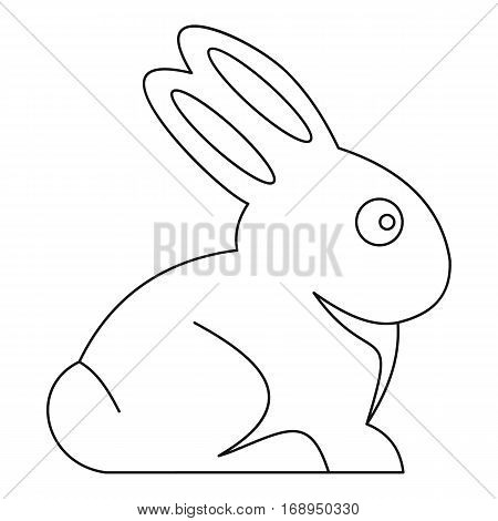 Easter bunny icon. Outline illustration of easter bunny vector icon for web