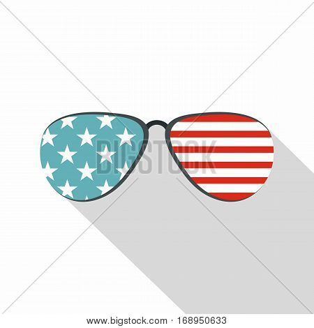 American glasses icon. Flat illustration of american glasses vector icon for web