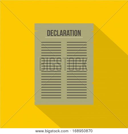 Declaration of Independence icon. Flat illustration of declaration of Independence vector icon for web