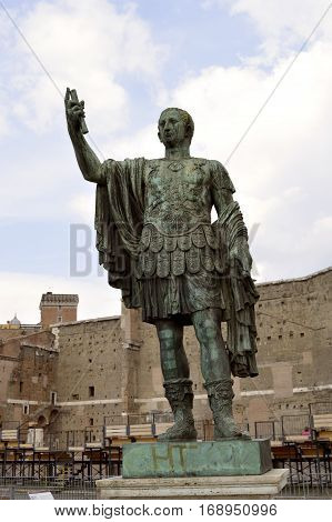 Bronze statue of Nerva in the Forum Romanum Rome