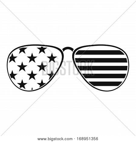 American glasses icon. Simple illustration of american glasses vector icon for web