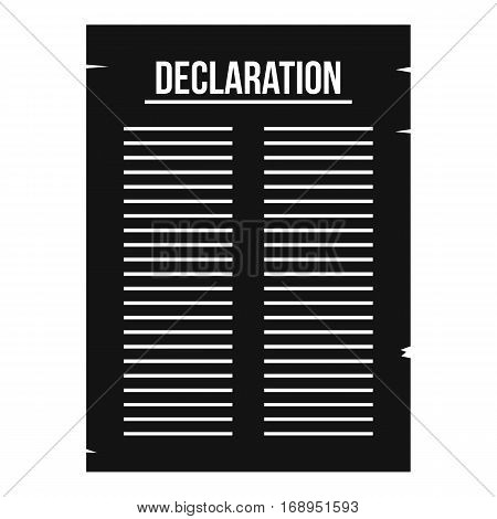 Declaration of independence icon. Simple illustration of declaration of independence vector icon for web