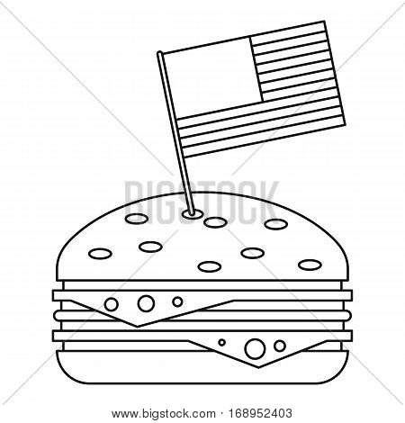 Hamburger icon. Outline illustration of hamburger vector icon for web