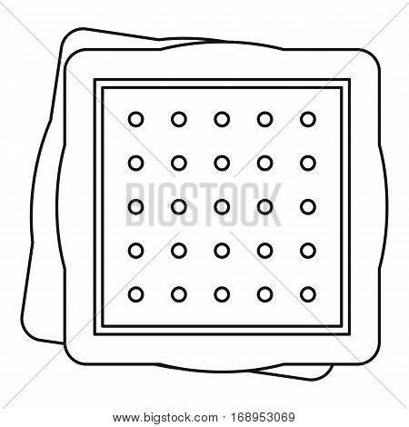 Biscuit icon. Outline illustration of biscuit, vector icon for web