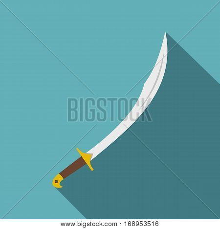 Cutlass icon. Flat illustration of cutlass vector icon for web