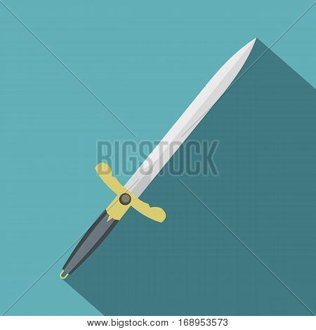 Sword icon. Flat illustration of sword vector icon for web
