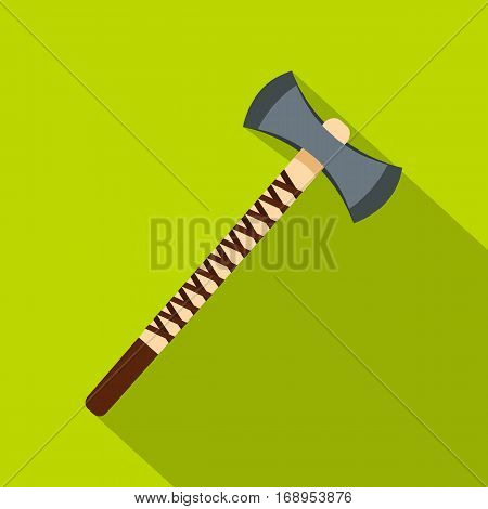 Big ax icon. Flat illustration of big ax vector icon for web
