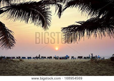 Amazing Sunset At Arambol Beach