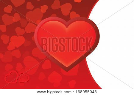 Valentine's day red hearth background vector illustration