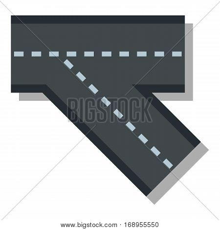 Turn road icon. Flat illustration of turn road vector icon for web