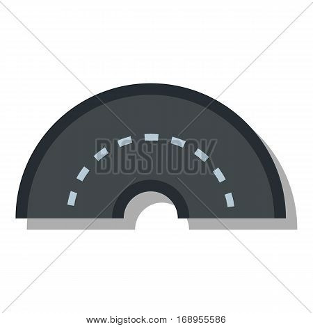 Round turning road icon. Flat illustration of round turning road vector icon for web
