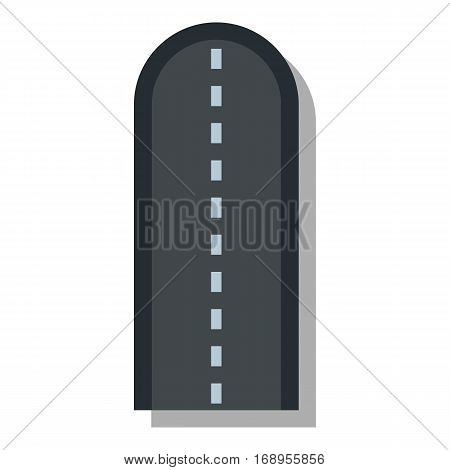 Long way icon. Flat illustration of long way vector icon for web