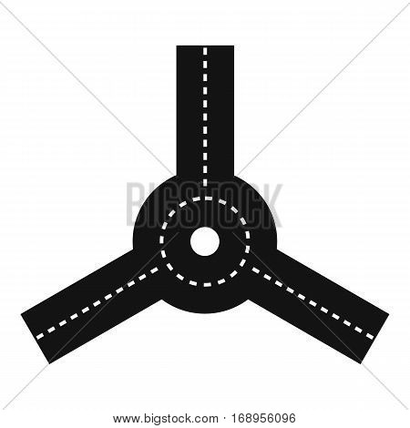 Roundabout icon. Simple illustration of roundabout vector icon for web