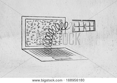 Laptop's Ram Module Out On A Spring