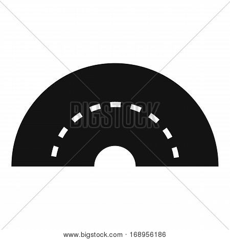 Round turning road icon. Simple illustration of round turning road vector icon for web