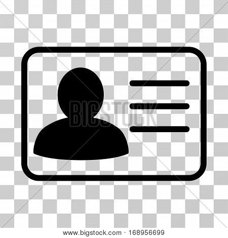 Account Card icon. Vector illustration style is flat iconic symbol, black color, transparent background. Designed for web and software interfaces.