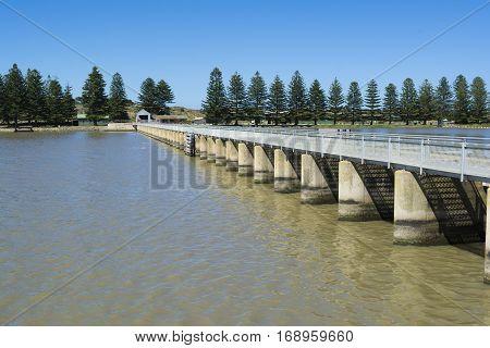 Barrage And Lock, Goolwa, Sa, Fleurieu Peninsula