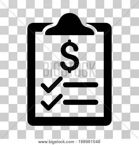 Invoice Pad icon. Vector illustration style is flat iconic symbol, black color, transparent background. Designed for web and software interfaces.