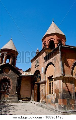 monastery in the city of yeveran in armenia