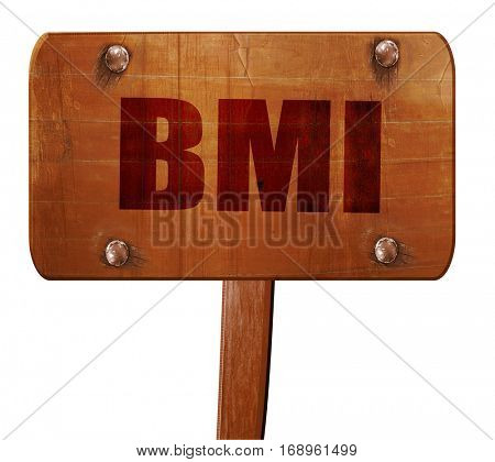 bmi, 3D rendering, text on wooden sign