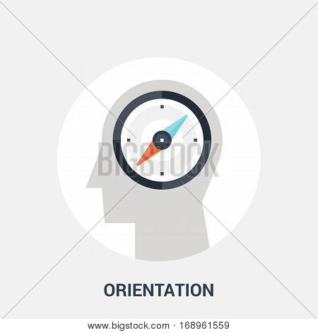 Abstract vector illustration of orientation icon concept