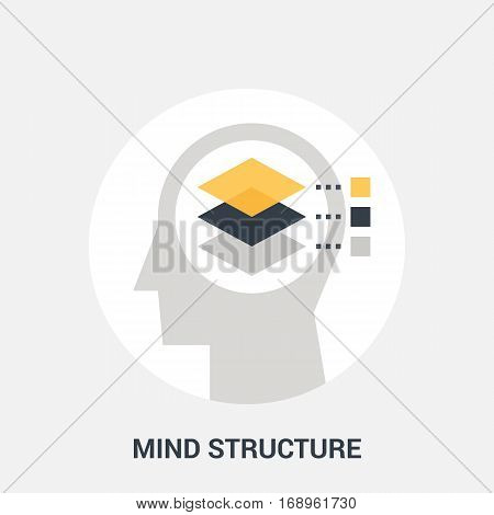 Abstract vector illustration of mind structure icon concept