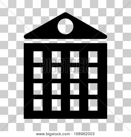 Multi-Storey House icon. Vector illustration style is flat iconic symbol, black color, transparent background. Designed for web and software interfaces.