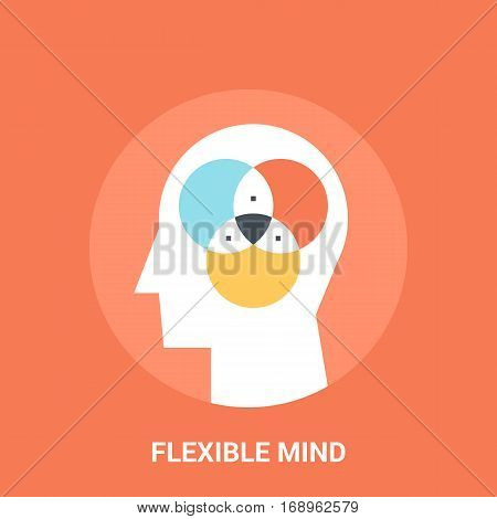 Abstract vector illustration of flexible mind icon concept