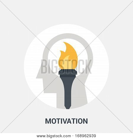 Abstract vector illustration of motivation icon concept