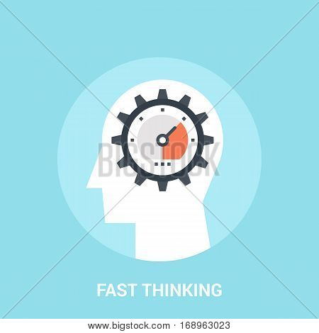 Abstract vector illustration of fast thinking icon concept