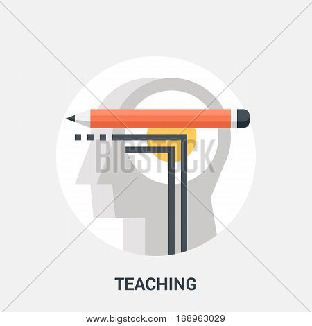 Abstract vector illustration of teaching icon concept