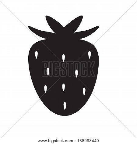 strawberry icon on white background. strawberry icon sign.
