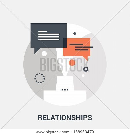 Abstract vector illustration of relationships icon concept