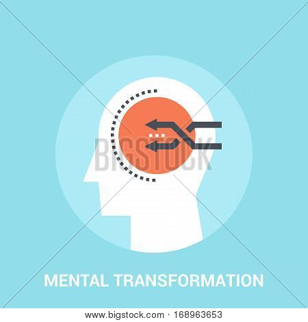 Abstract vector illustration of mental transformation icon concept