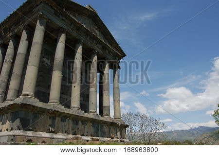 nice Garni Temple  in Armenia near yeveran