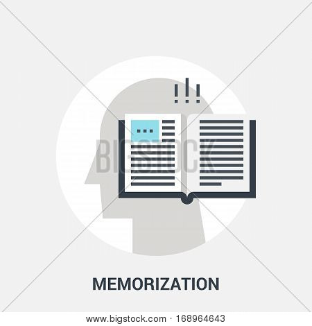 Abstract vector illustration of memorization icon concept