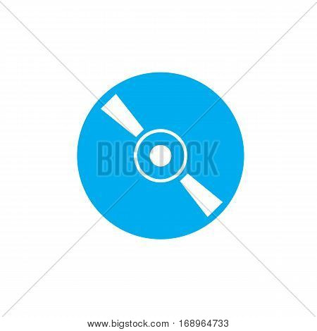 cd or dvd icon on white background. cd or dvd sign.