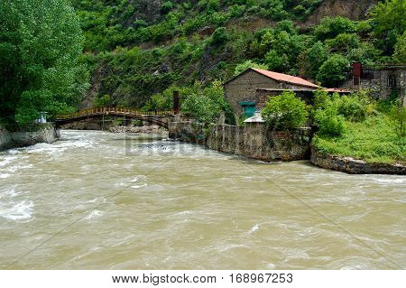 small river in the hinterland of Armenia.armenia