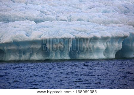 iceberg close-up and water